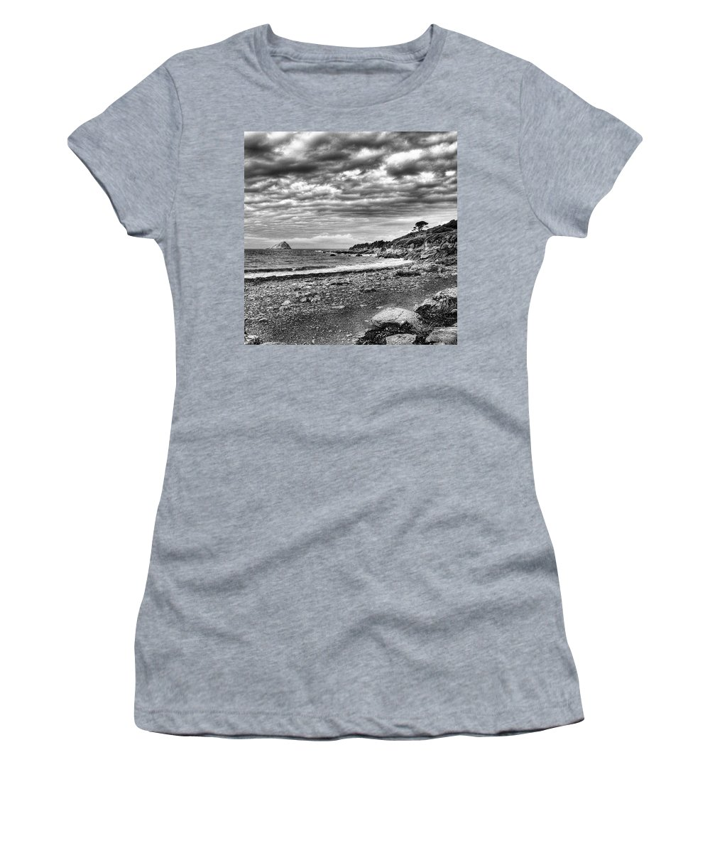 Devonshire Women's T-Shirt featuring the photograph The Mewstone, Wembury Bay, Devon #view by John Edwards