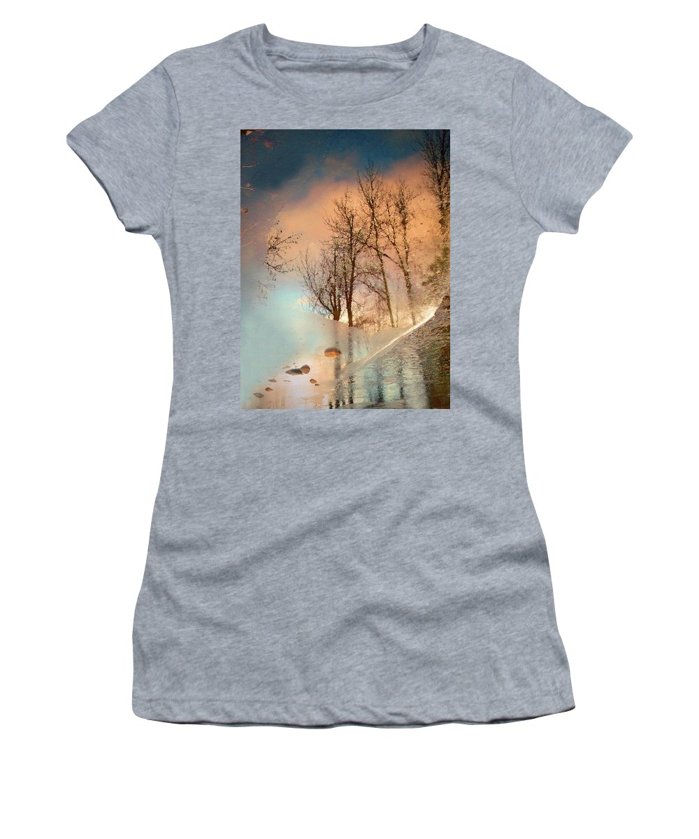 Ice Women's T-Shirt featuring the photograph The Movement Of Ice by Tara Turner