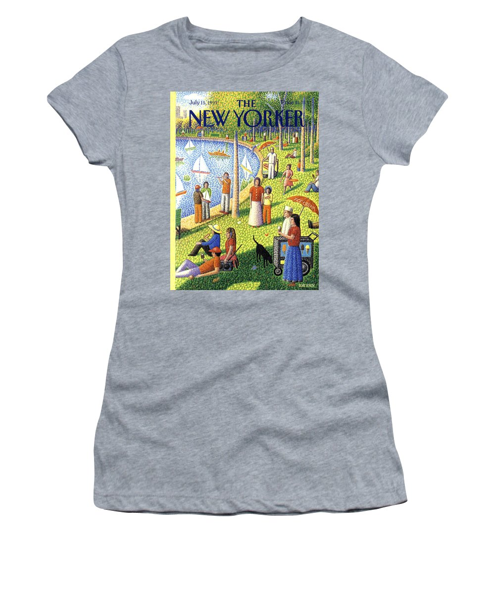 La Grande Jatte Women's T-Shirt featuring the painting The New Yorker July 15th, 1991 by Bob Knox