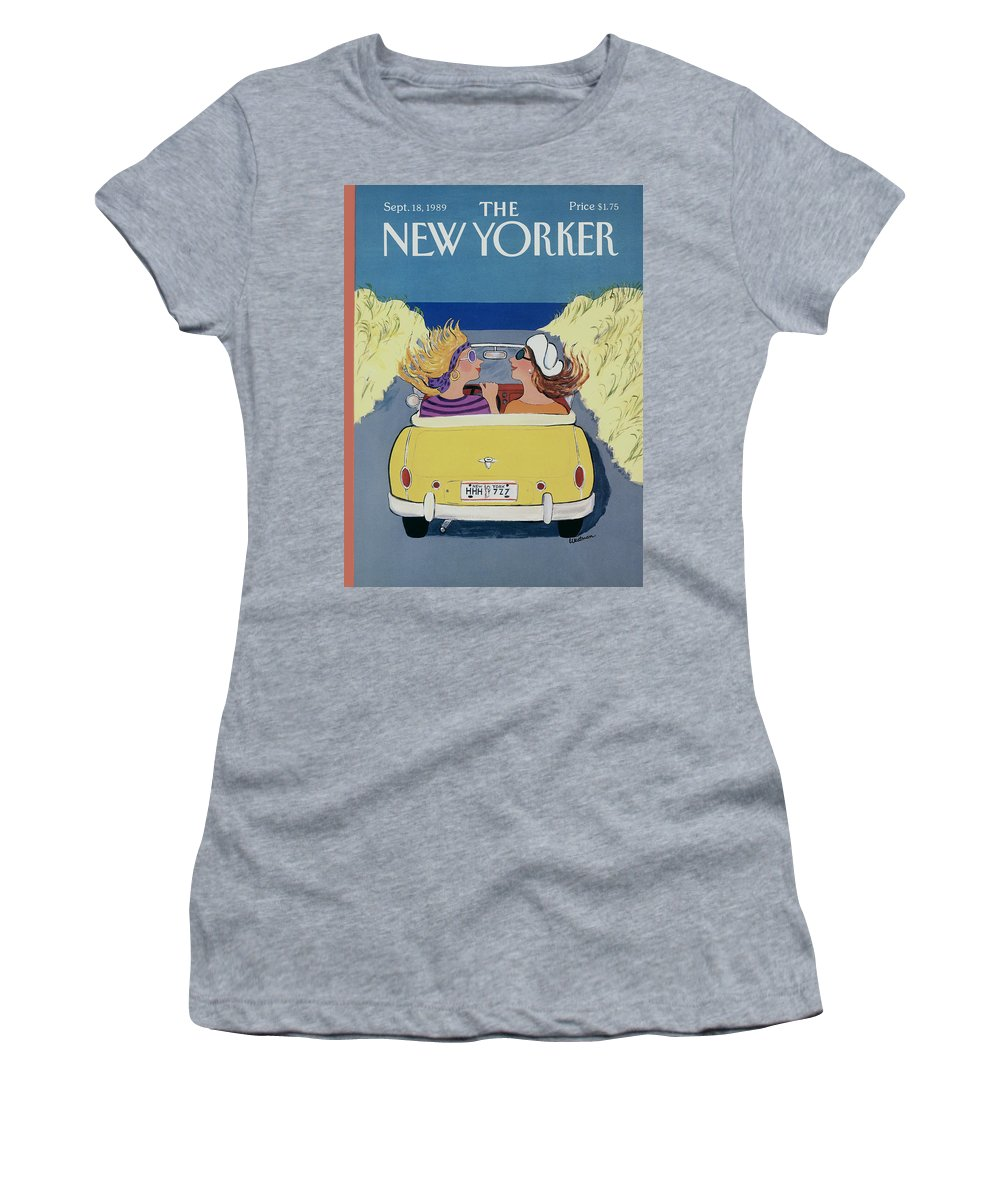 Autos Women's T-Shirt featuring the photograph The New Yorker Cover - September 18th, 1989 by Barbara Westman