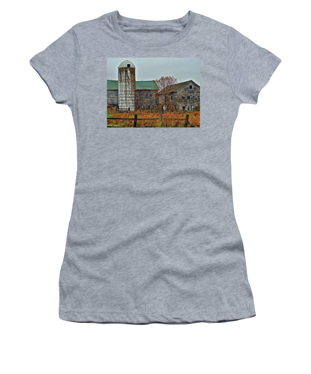 Rural Women's T-Shirt (Athletic Fit) featuring the photograph The Old Farm by Diana Hatcher