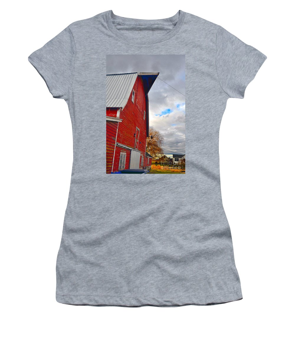 Art Women's T-Shirt (Athletic Fit) featuring the photograph The Old Farmstead by Clayton Bruster