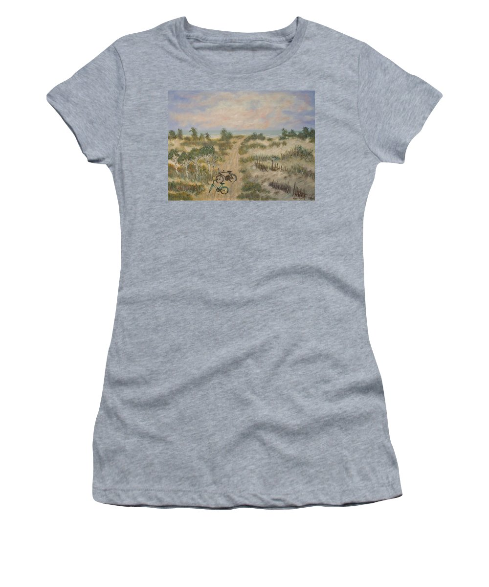 Beach Women's T-Shirt featuring the painting The Path by Ben Kiger