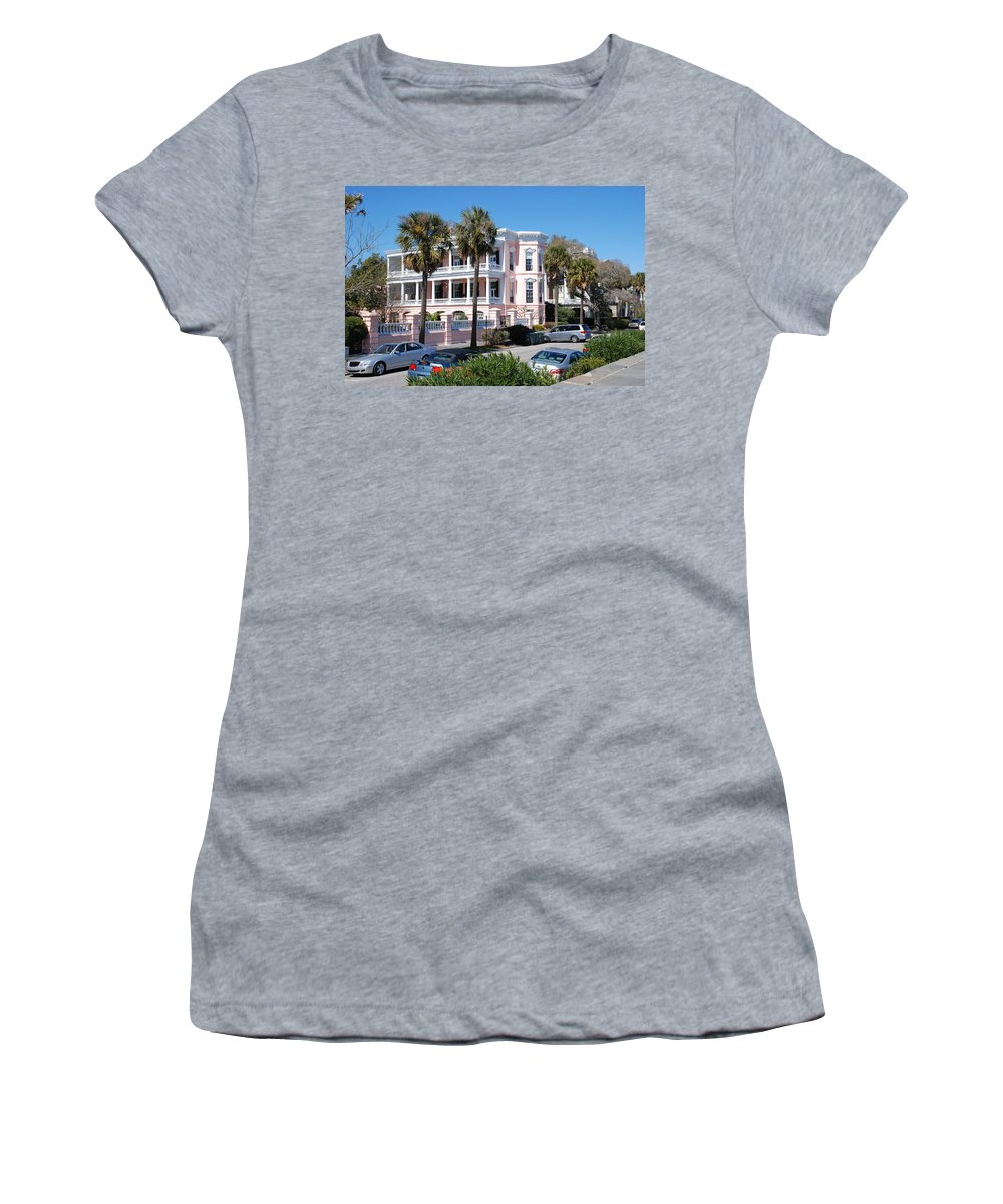 Photography Women's T-Shirt featuring the photograph The Pink Battery House by Susanne Van Hulst