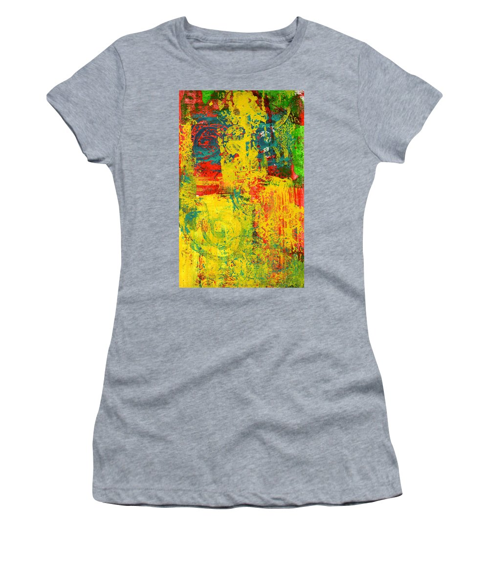 Abstract Women's T-Shirt featuring the painting The Power Within by Wayne Potrafka