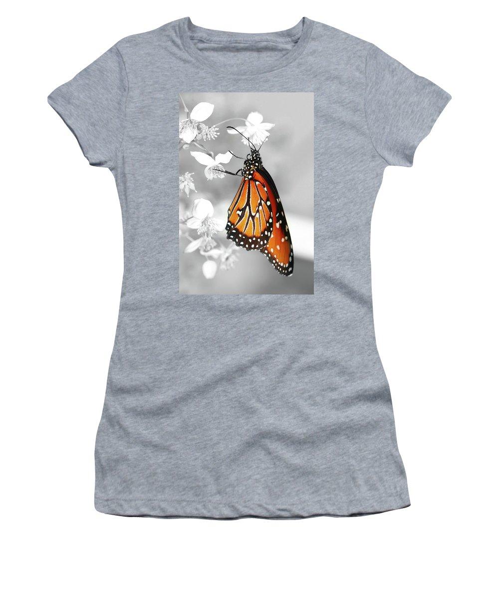 Butterflies Women's T-Shirt featuring the photograph The Queen by Dennis Goodman