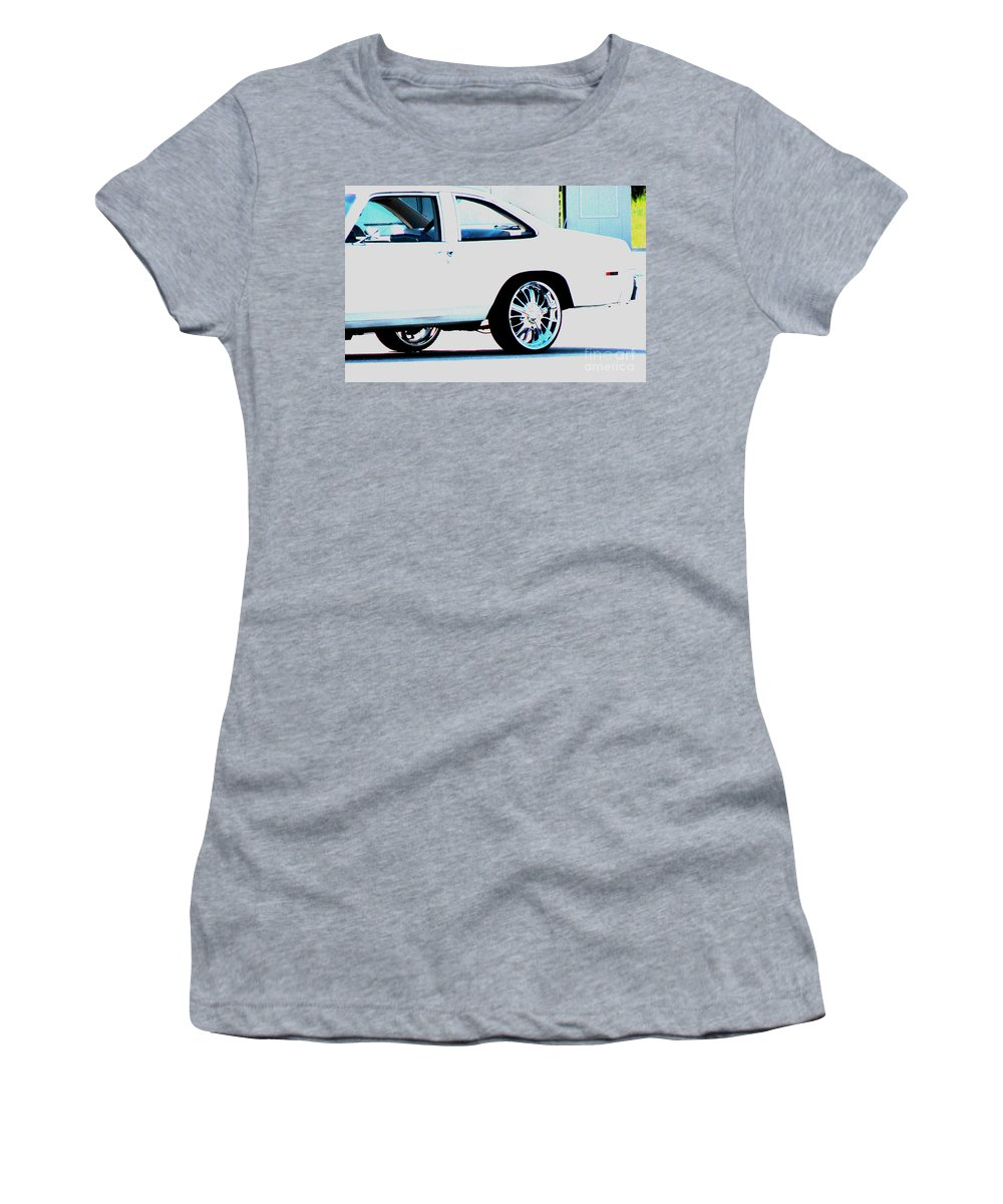 Car Women's T-Shirt (Athletic Fit) featuring the photograph The Ride by Amanda Barcon