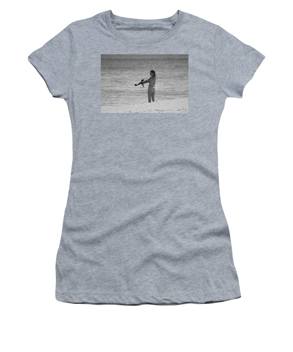 Black And White Women's T-Shirt (Athletic Fit) featuring the photograph The Shirt by Rob Hans