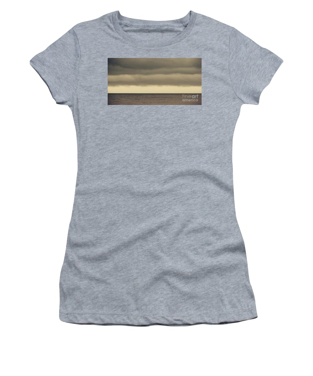Ocean Women's T-Shirt featuring the photograph The Storm Came With Fury by Dana DiPasquale