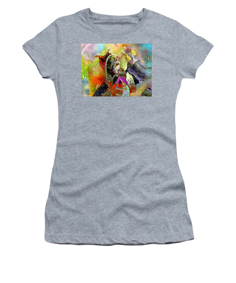 Fantasy Women's T-Shirt (Athletic Fit) featuring the painting The Sweeties 03 by Miki De Goodaboom