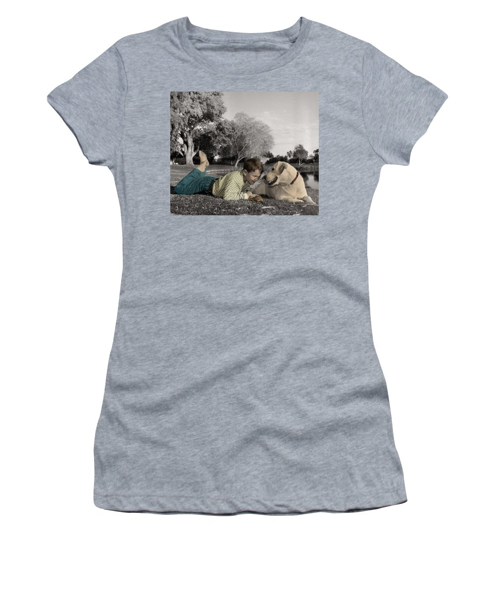The Twelve Gifts Of Birth Women's T-Shirt (Athletic Fit) featuring the photograph The Twelve Gifts Of Birth - Reverence 1 by Jill Reger