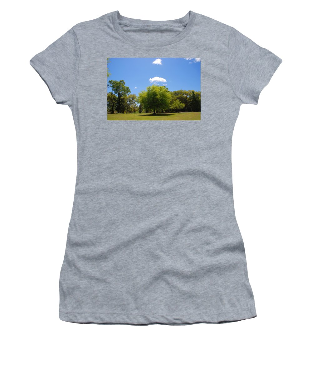 Photography Women's T-Shirt featuring the photograph There Are Some Clouds by Susanne Van Hulst