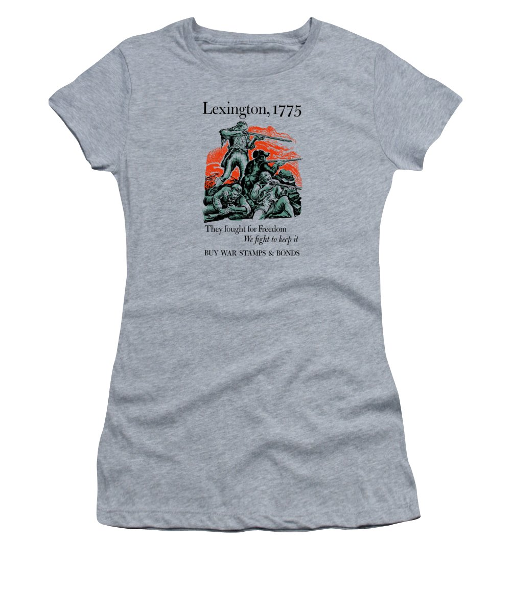 Minutemen Women's T-Shirt featuring the painting They Fought For Freedom - We Fight To Keep It by War Is Hell Store