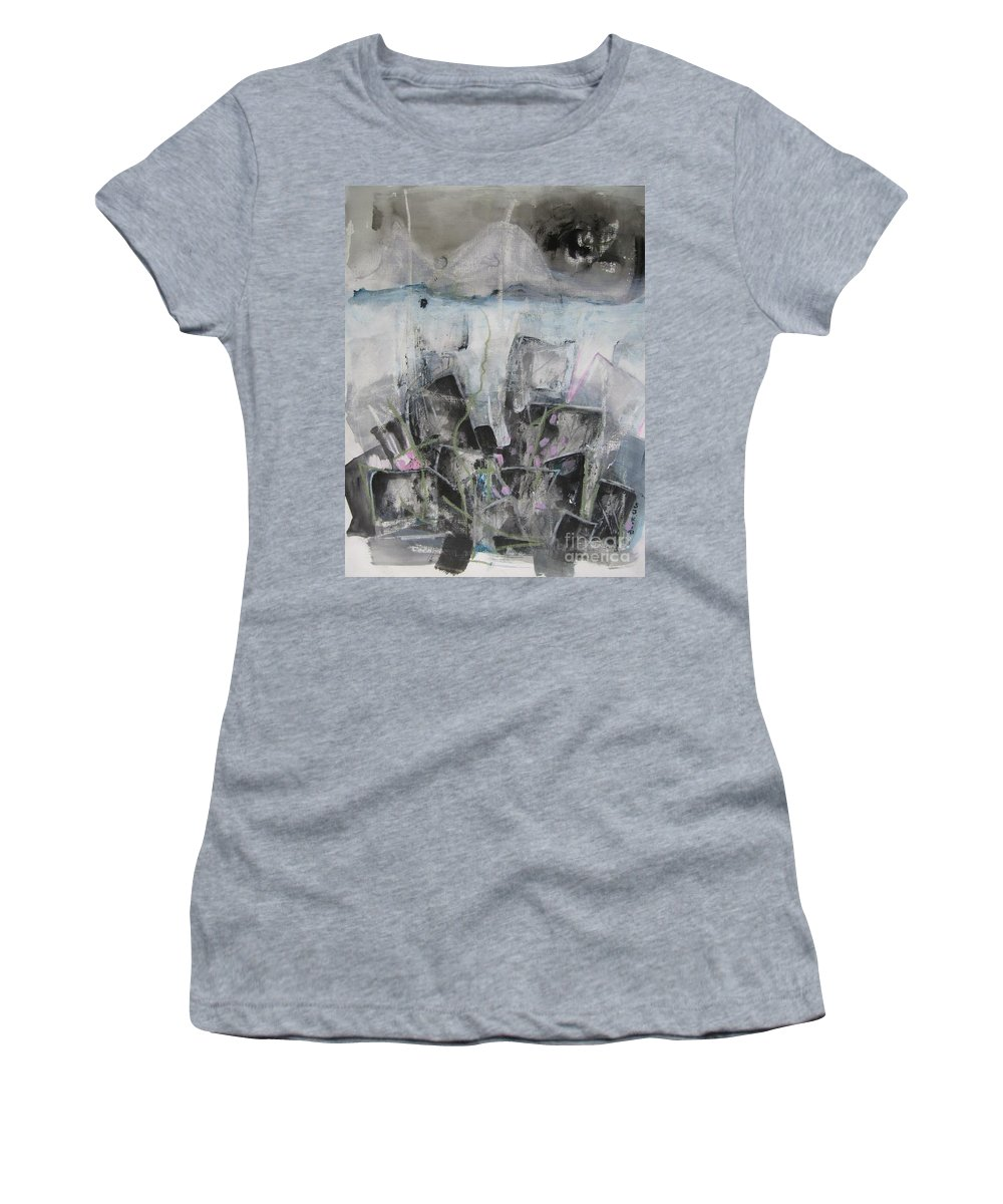 Cemetery Women's T-Shirt (Athletic Fit) featuring the painting Three Arms by Seon-Jeong Kim