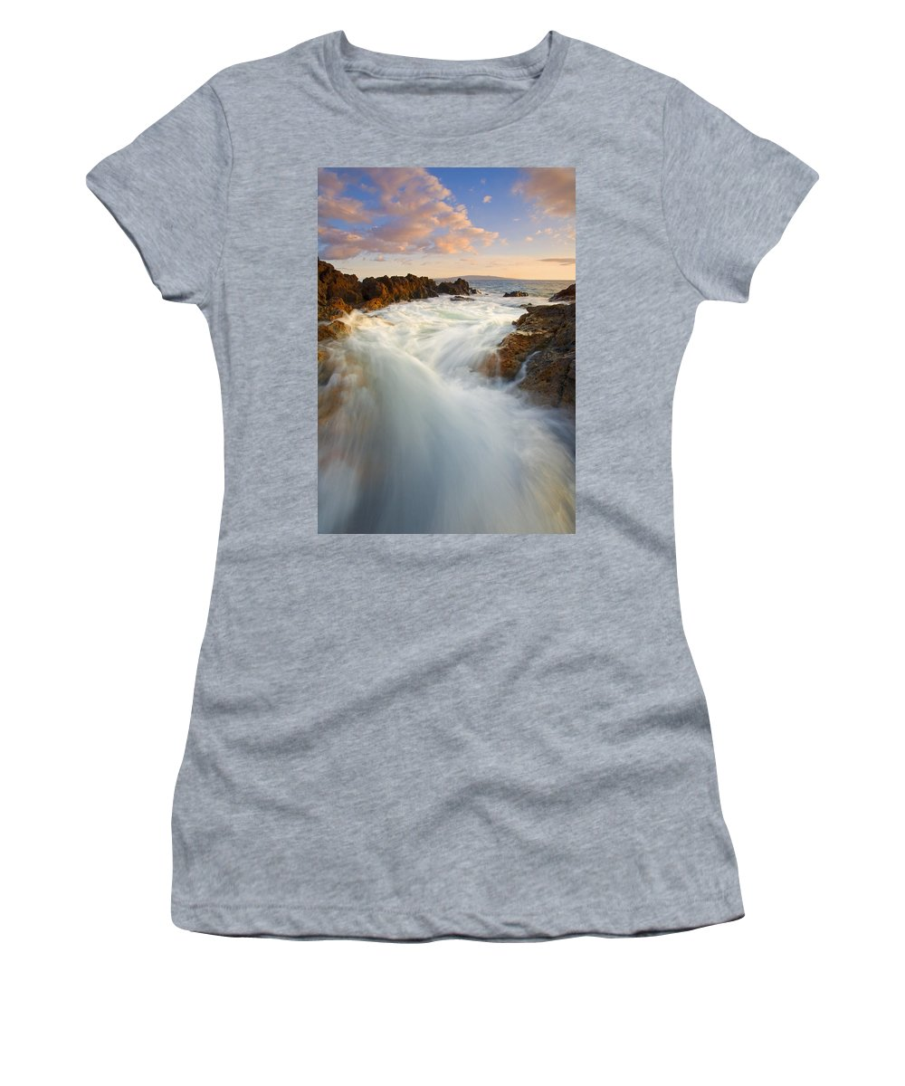 Surge Women's T-Shirt (Athletic Fit) featuring the photograph Tidal Surge by Mike Dawson