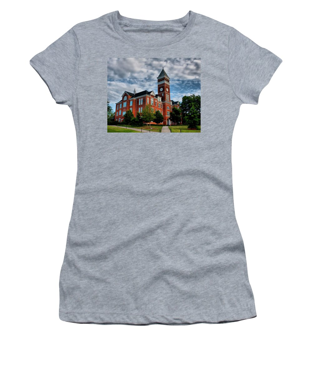 Tillman Hall Women's T-Shirt (Athletic Fit) featuring the photograph Tillman Hall by Lynne Jenkins