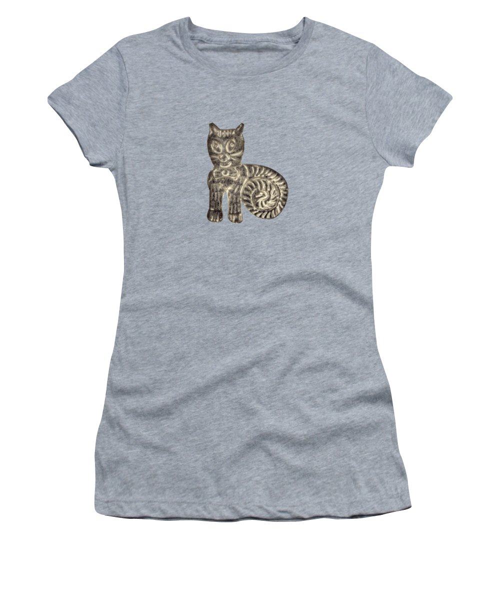 Good Luck Women's T-Shirt featuring the photograph Tin Cat by YoPedro