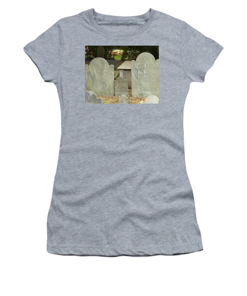 Pumpkin Women's T-Shirt (Athletic Fit) featuring the photograph To The Pumpkin Patch by Steven Natanson