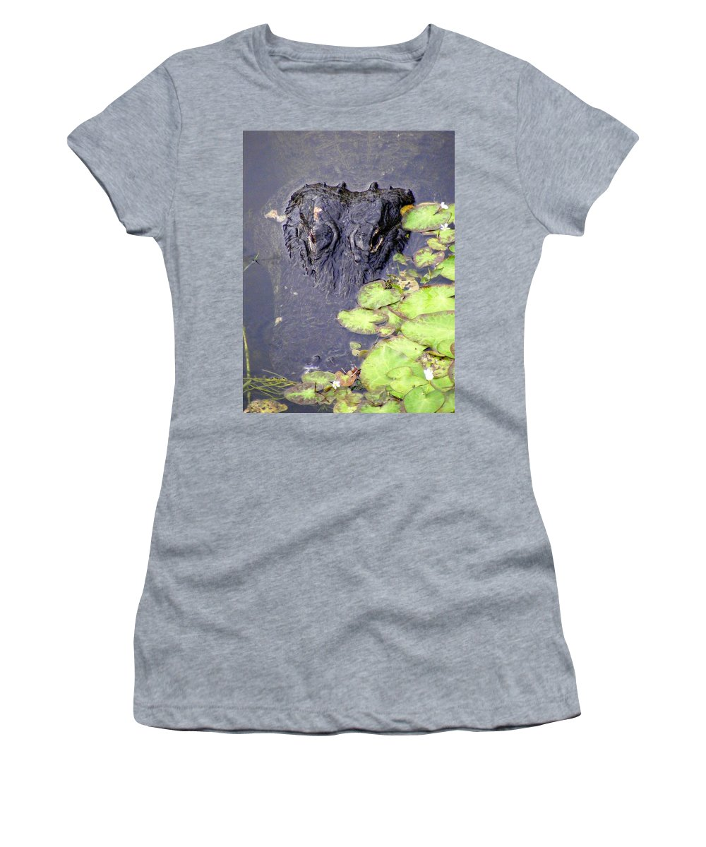 Swamp Women's T-Shirt (Athletic Fit) featuring the photograph Too Close For Comfort by Ed Smith