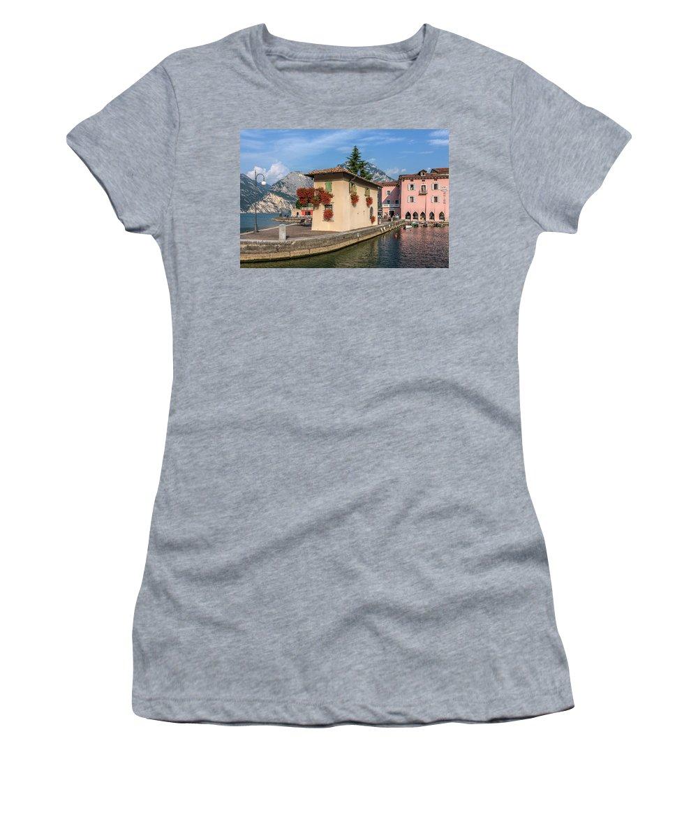 Torbole Women's T-Shirt featuring the photograph Torbole - Italy by Joana Kruse