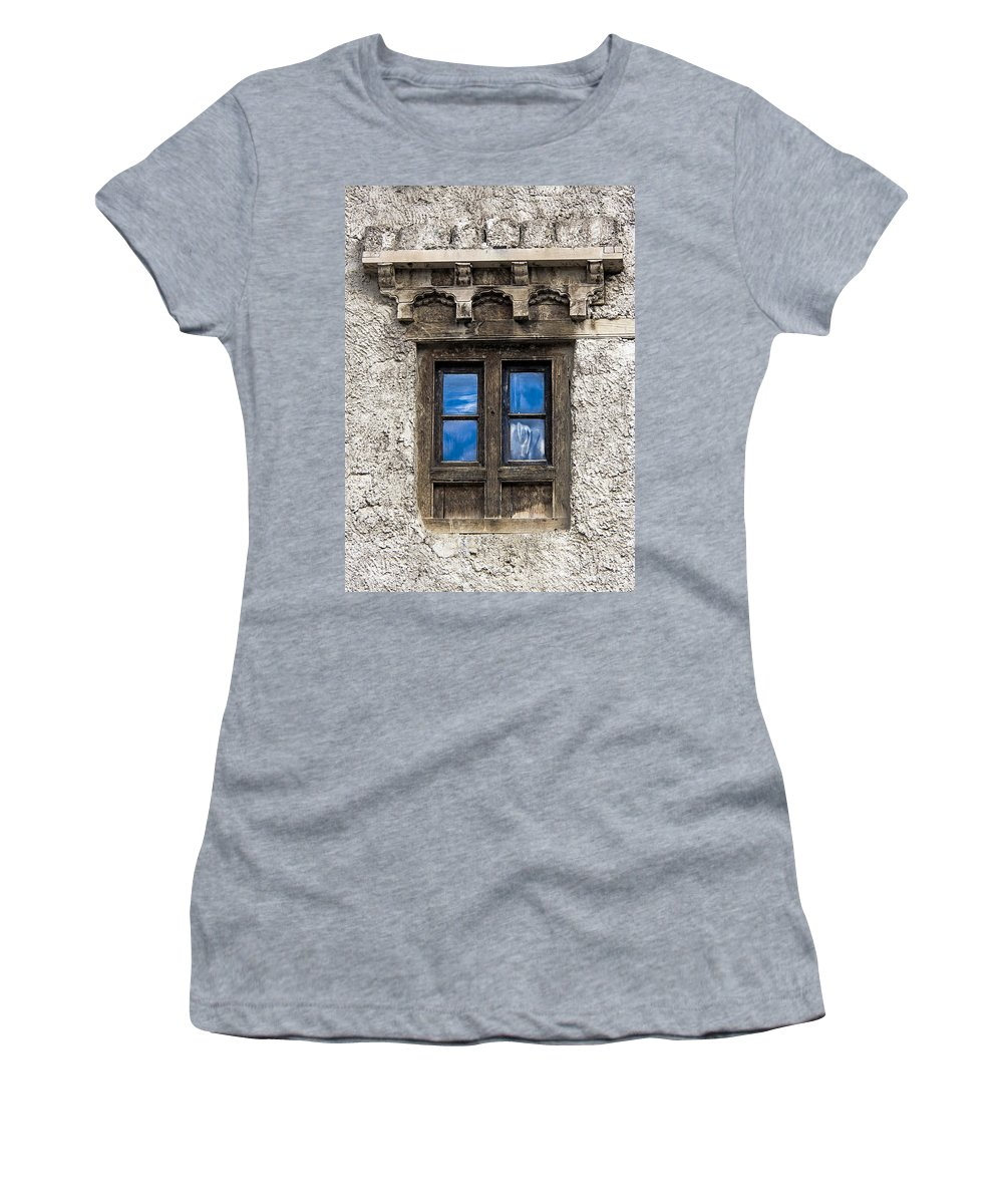 Window Women's T-Shirt (Athletic Fit) featuring the photograph Touch Of Sky by Hitendra SINKAR