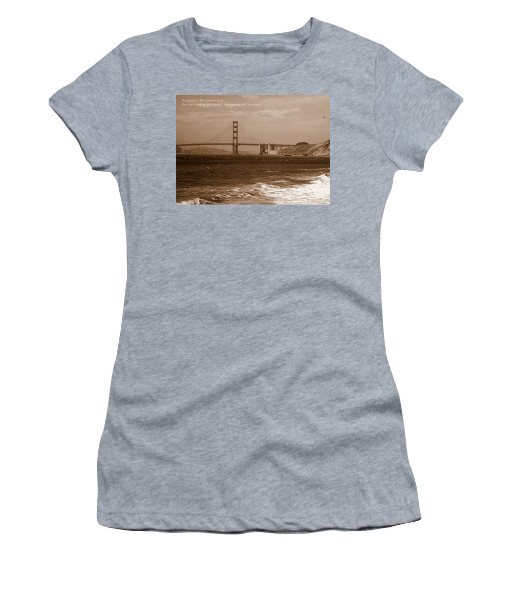 Photographers Women's T-Shirt featuring the photograph Treasure Hunt Poster by Carol Groenen
