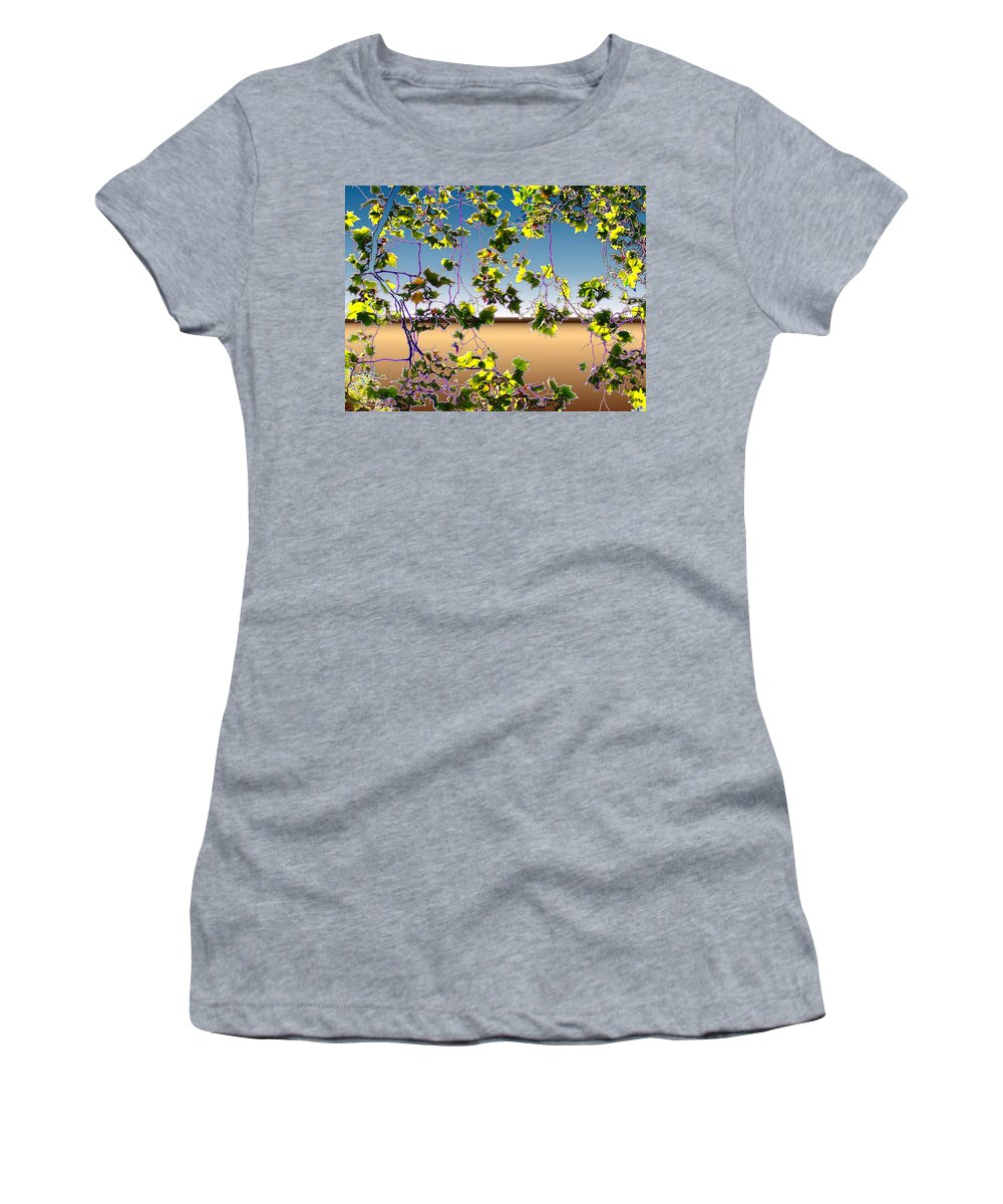 Tree Women's T-Shirt (Athletic Fit) featuring the photograph Tree Leaves by Tim Allen