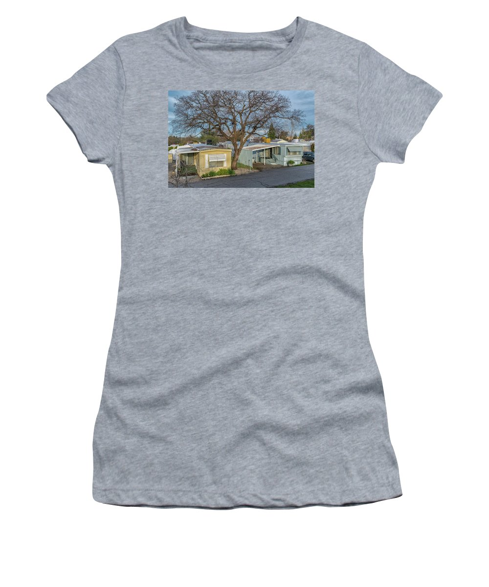Auburn Women's T-Shirt (Athletic Fit) featuring the photograph Tree Over The Park by Robin Mayoff