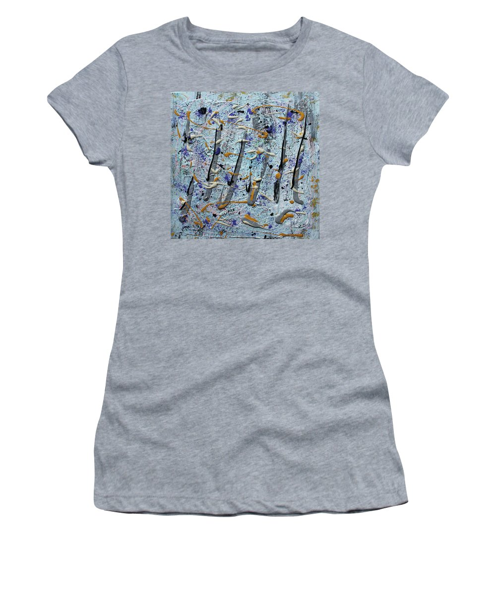 Colorado Women's T-Shirt featuring the painting Trees Thru White Out by Pam Roth O'Mara