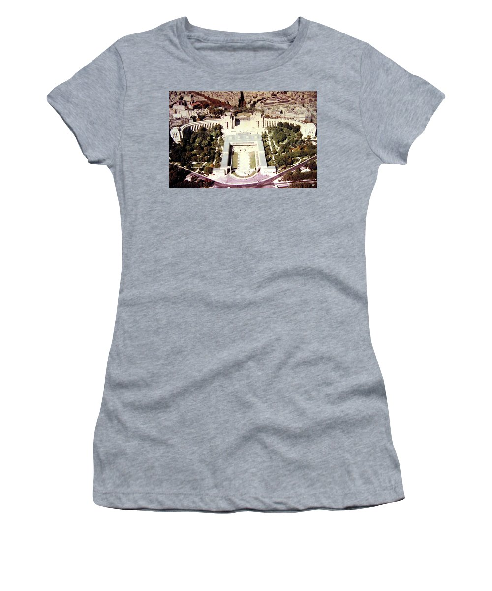 1955 Women's T-Shirt featuring the photograph Trocadero Palais De Chaillot 1955 by Will Borden