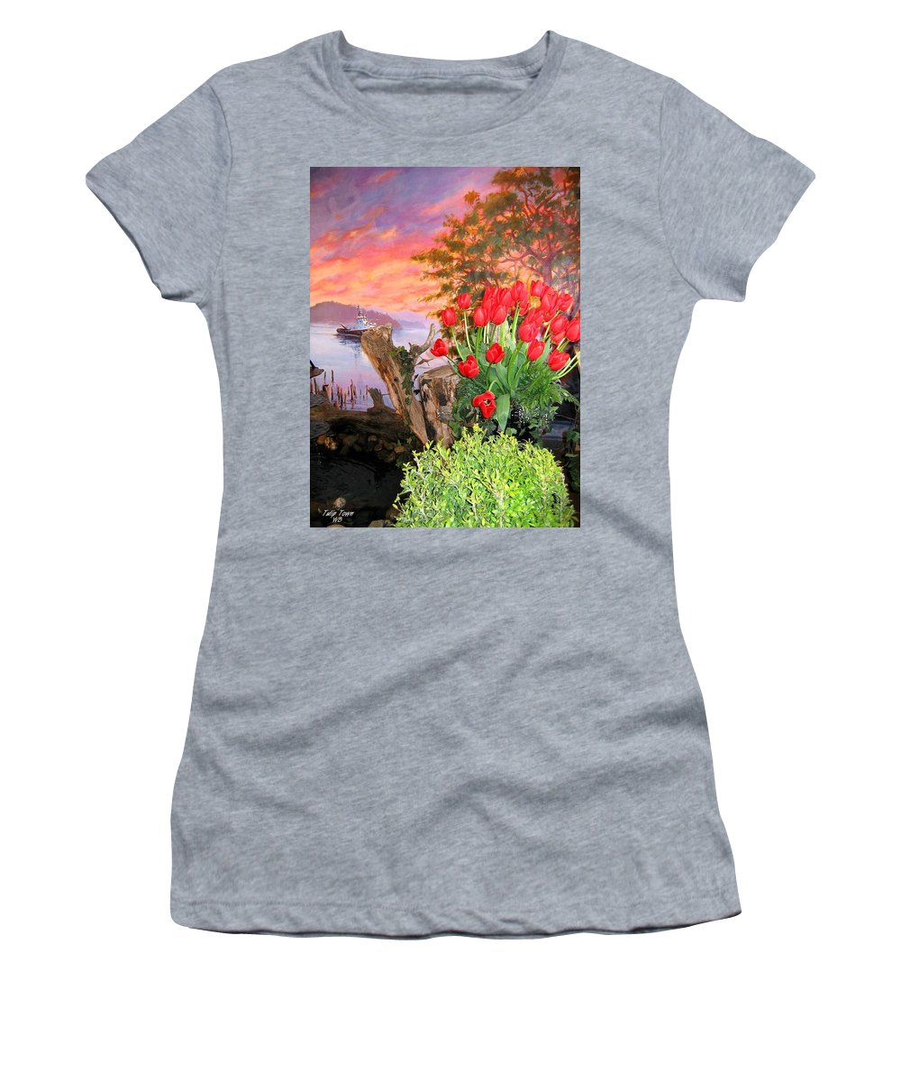 Agriculture Women's T-Shirt (Athletic Fit) featuring the photograph Tulip Town 19 by Will Borden