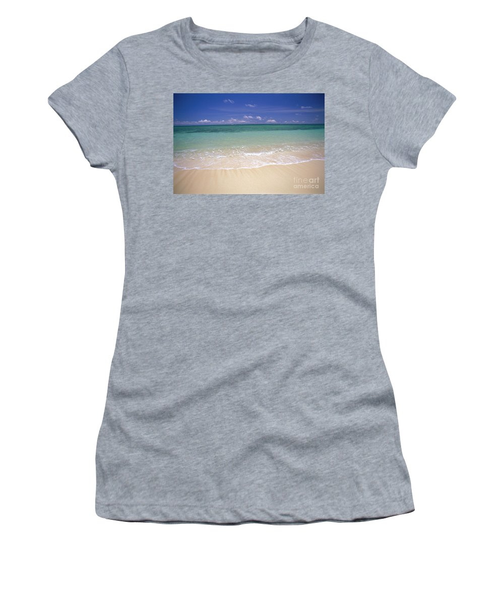 Afternoon Women's T-Shirt (Athletic Fit) featuring the photograph Turquoise Shoreline by Carl Shaneff - Printscapes