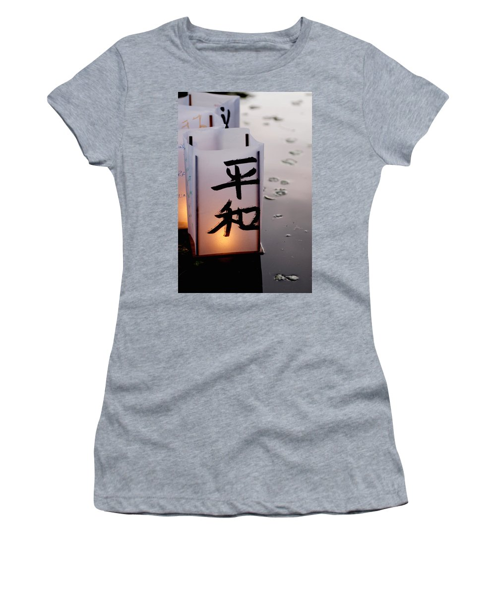Reflection Women's T-Shirt (Athletic Fit) featuring the photograph Twilight by Greg Fortier