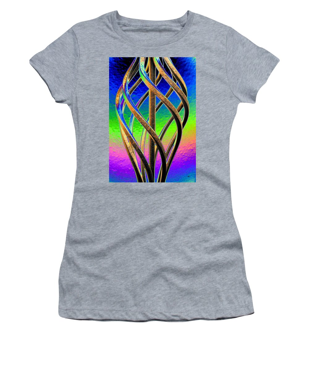 Abstract Women's T-Shirt (Athletic Fit) featuring the digital art Twist And Shout 2 by Will Borden