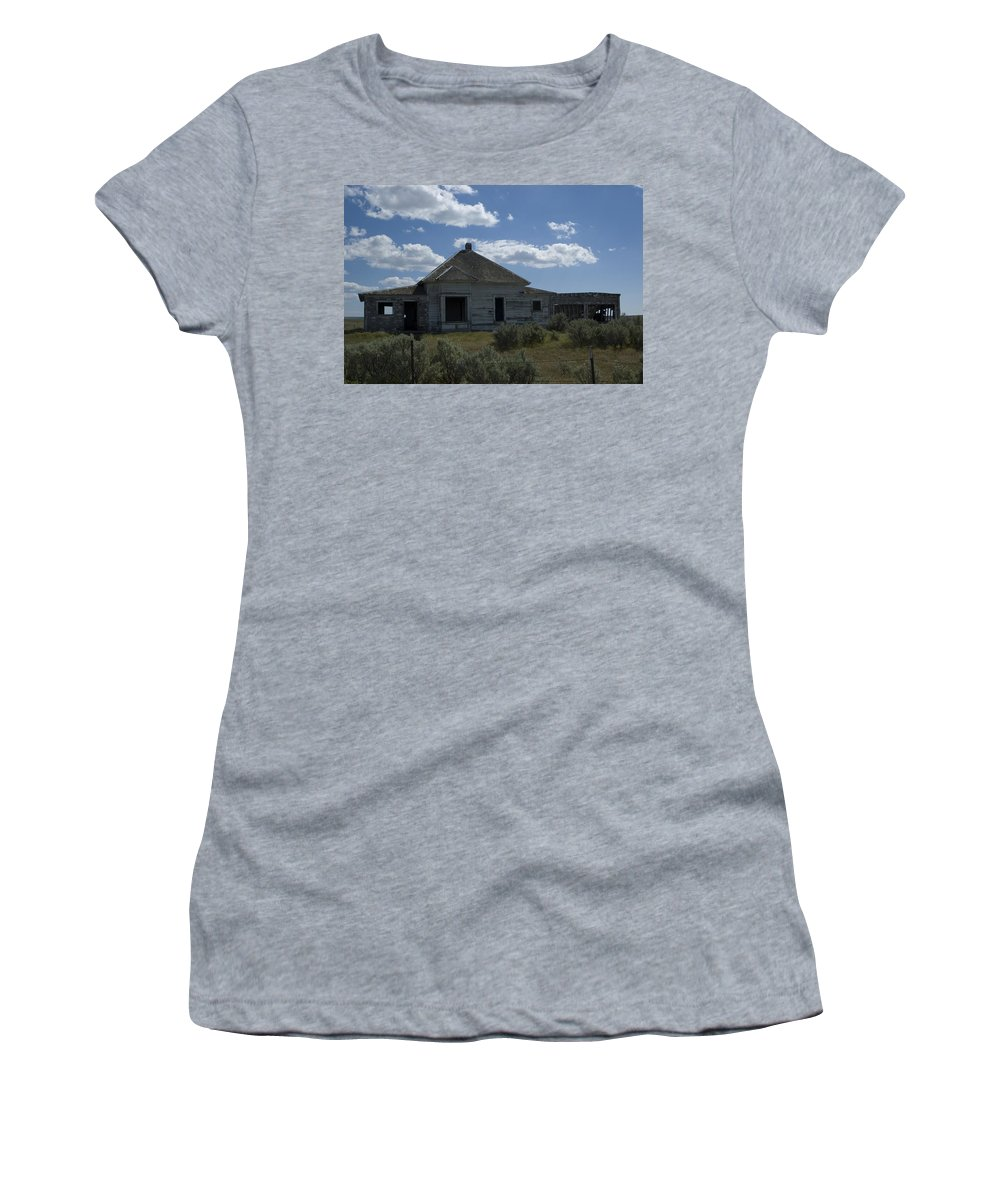 Old House Women's T-Shirt (Athletic Fit) featuring the photograph Two Car Garage by Sara Stevenson