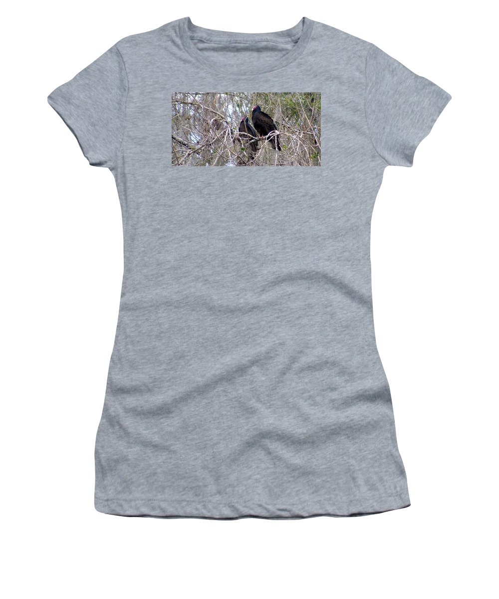 Birds Women's T-Shirt (Athletic Fit) featuring the photograph Two Friends by Ed Smith
