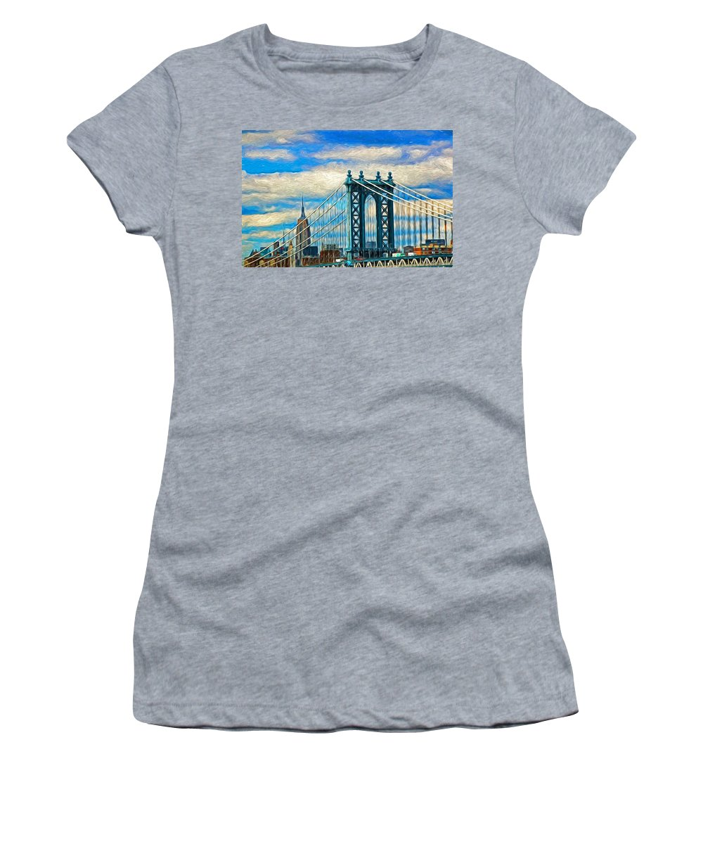 Skyscraper Women's T-Shirt (Athletic Fit) featuring the photograph Two Icons by Allen Beatty