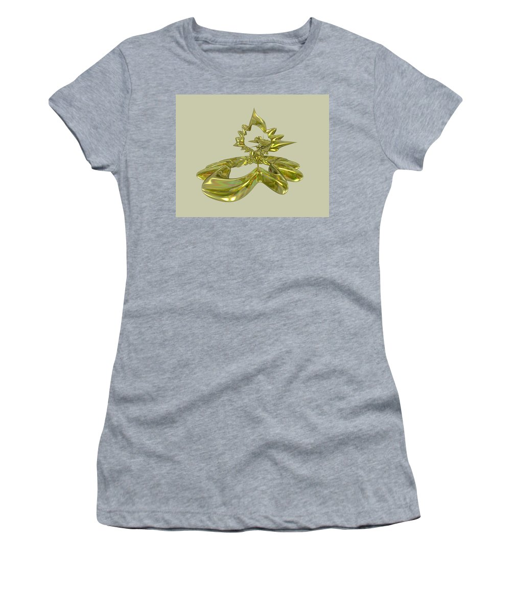 Fractal Women's T-Shirt (Athletic Fit) featuring the digital art UFO by Frederic Durville