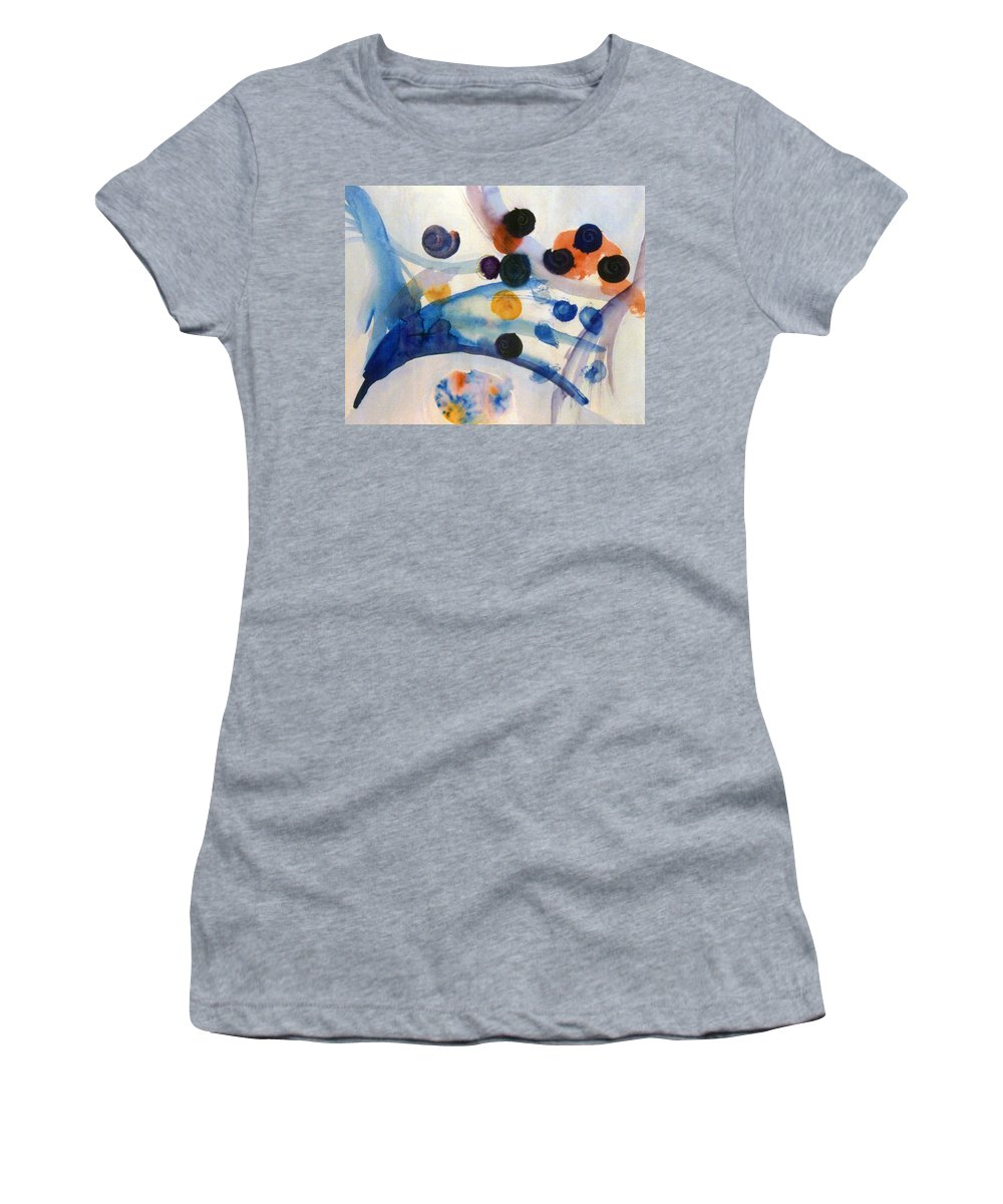 Abstract Women's T-Shirt (Athletic Fit) featuring the painting Under The Sea by Steve Karol