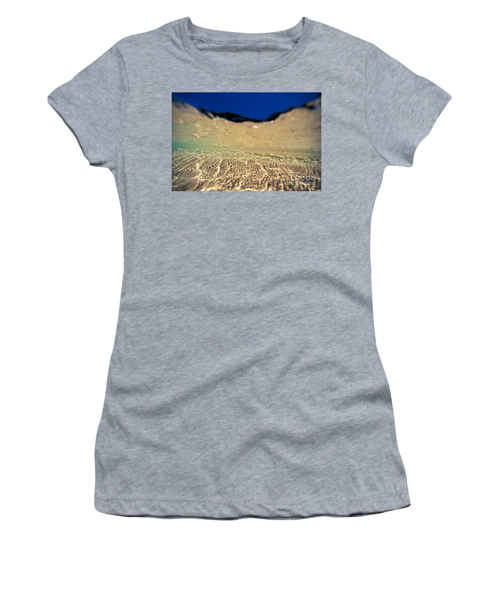 Abstract Women's T-Shirt (Athletic Fit) featuring the photograph Underwater Reflections by Vince Cavataio - Printscapes