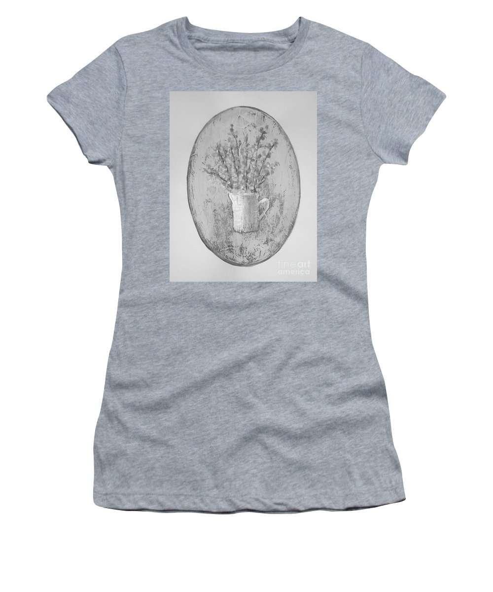 Abstract Women's T-Shirt (Athletic Fit) featuring the painting Untitled by Vesna Antic