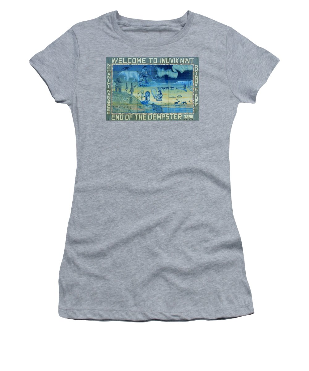 North America Women's T-Shirt (Athletic Fit) featuring the photograph Up North ... by Juergen Weiss
