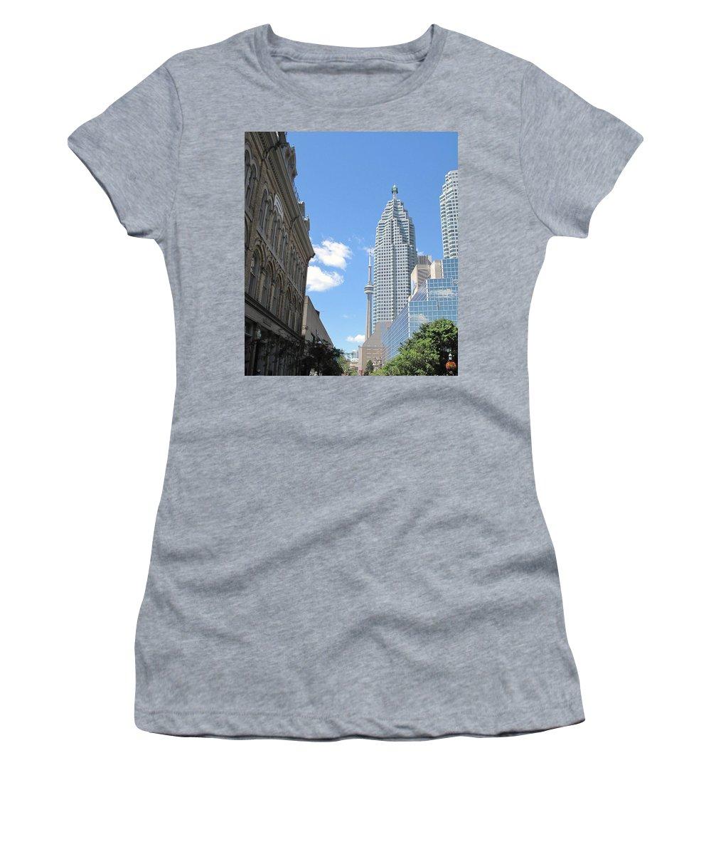 Front Street Women's T-Shirt featuring the photograph Urban Canyon by Ian MacDonald