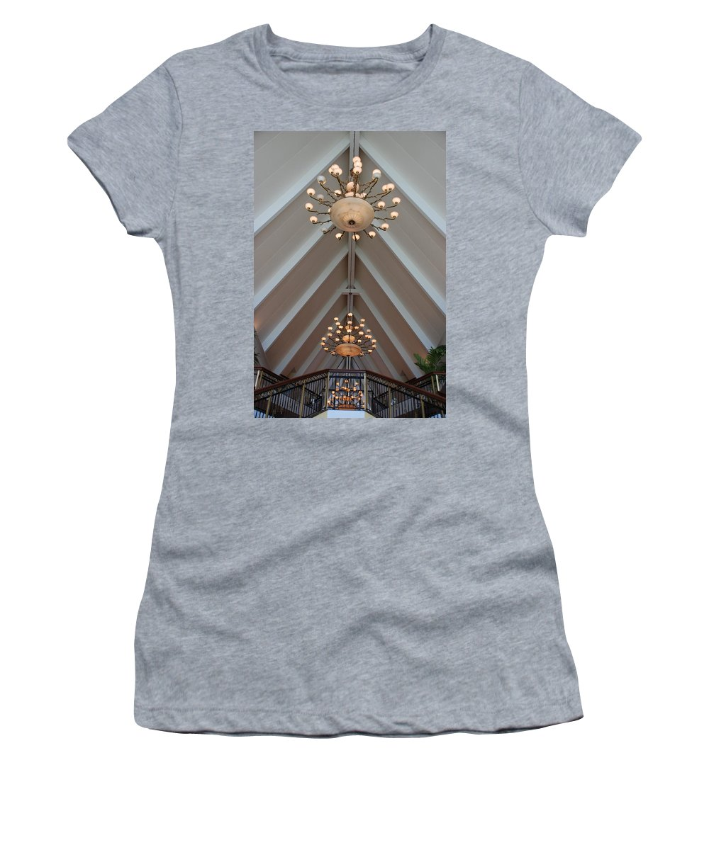 Architecture Women's T-Shirt (Athletic Fit) featuring the photograph Vaulted Lights by Rob Hans
