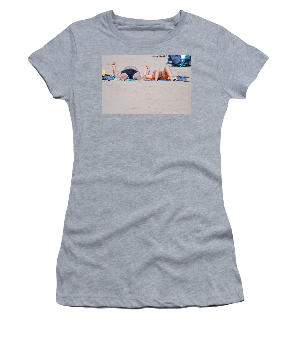 People Women's T-Shirt (Athletic Fit) featuring the photograph Views At The Beach by Rob Hans