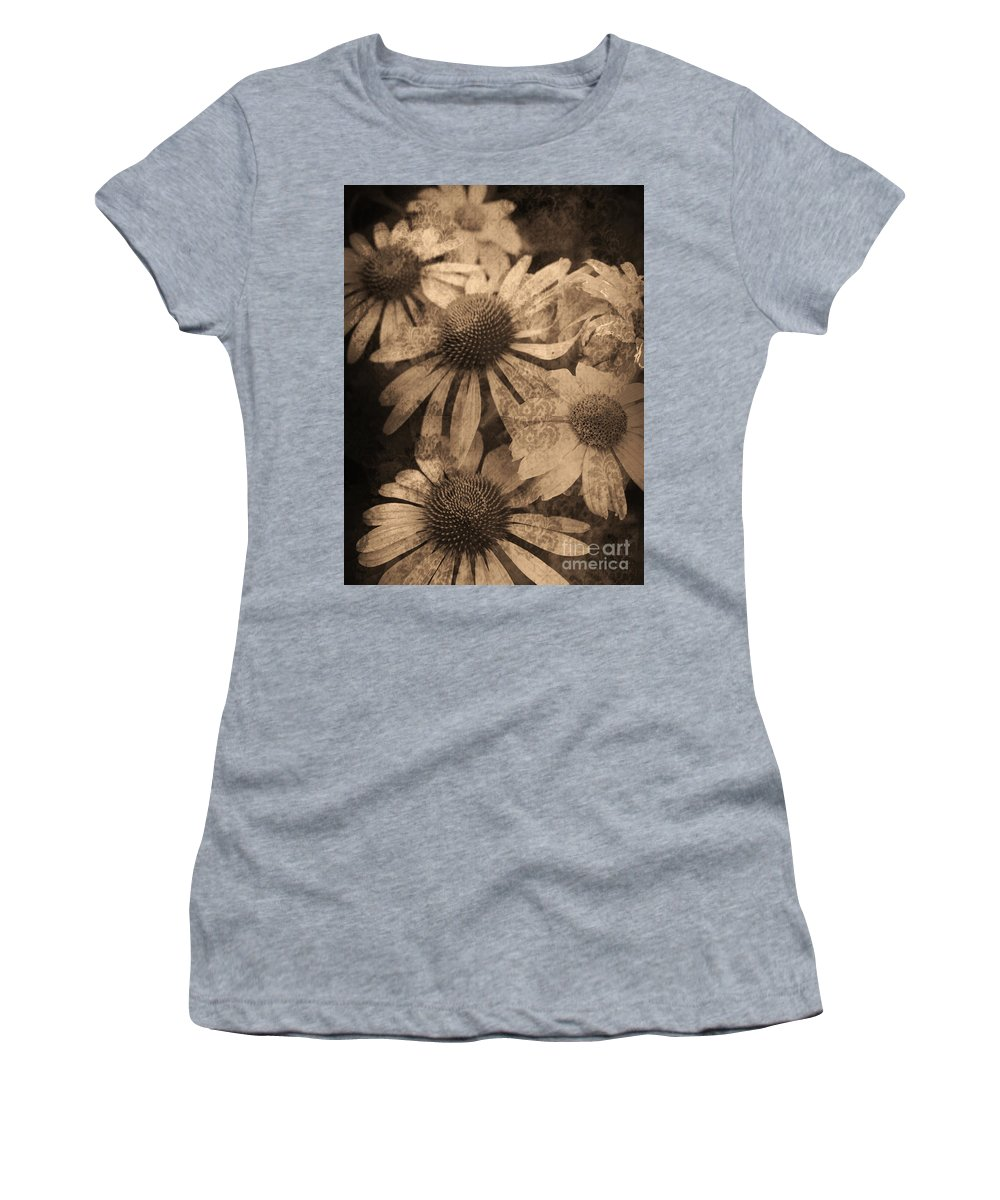 Vintage Women's T-Shirt featuring the photograph Vintage Flowers by Tara Turner