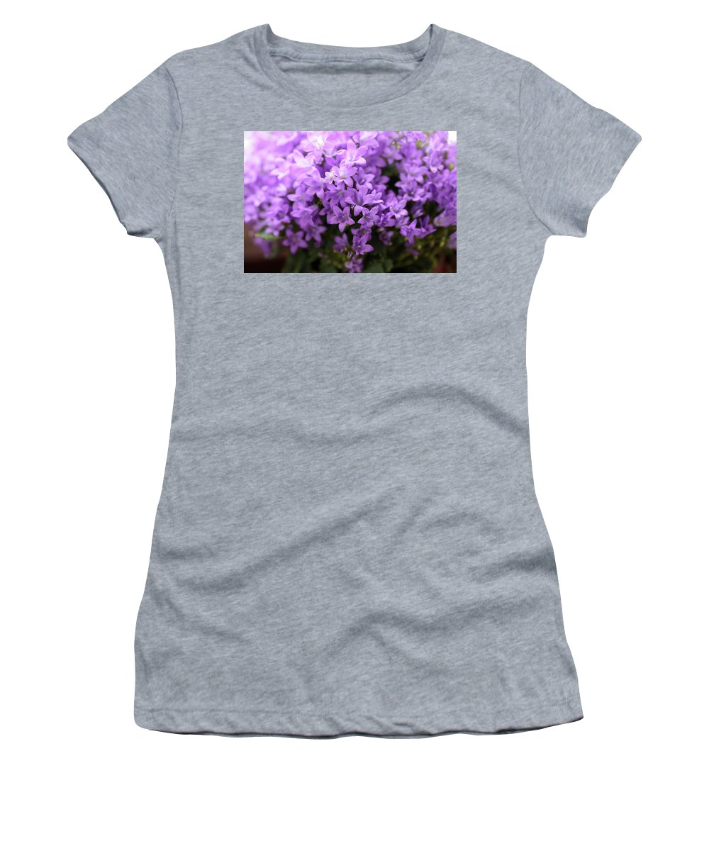 Horizontal Women's T-Shirt (Athletic Fit) featuring the photograph Violet Dream I by Stefania Levi