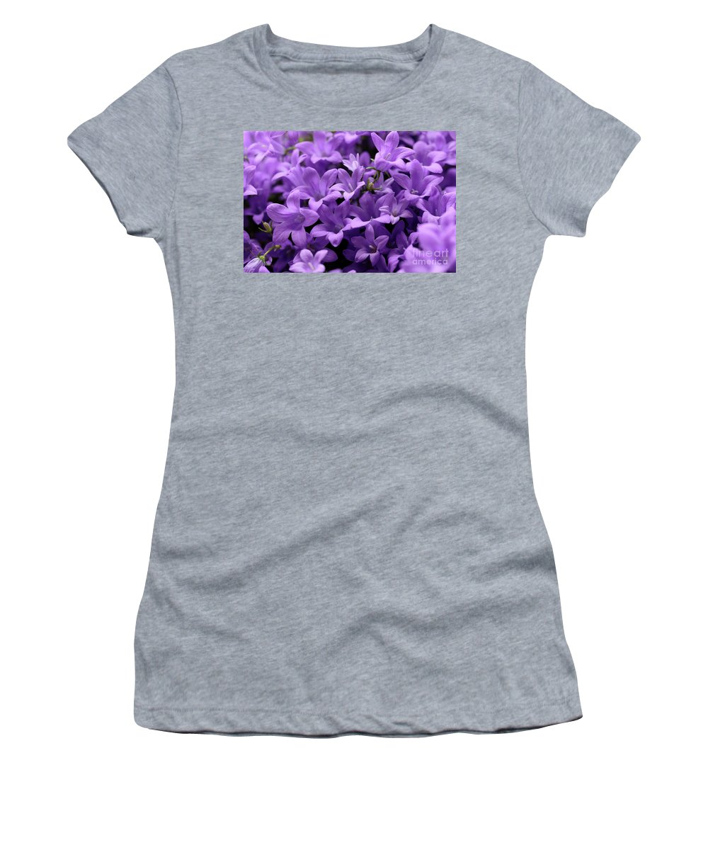 Horizontal Women's T-Shirt (Athletic Fit) featuring the photograph Violet Dream Iv by Stefania Levi