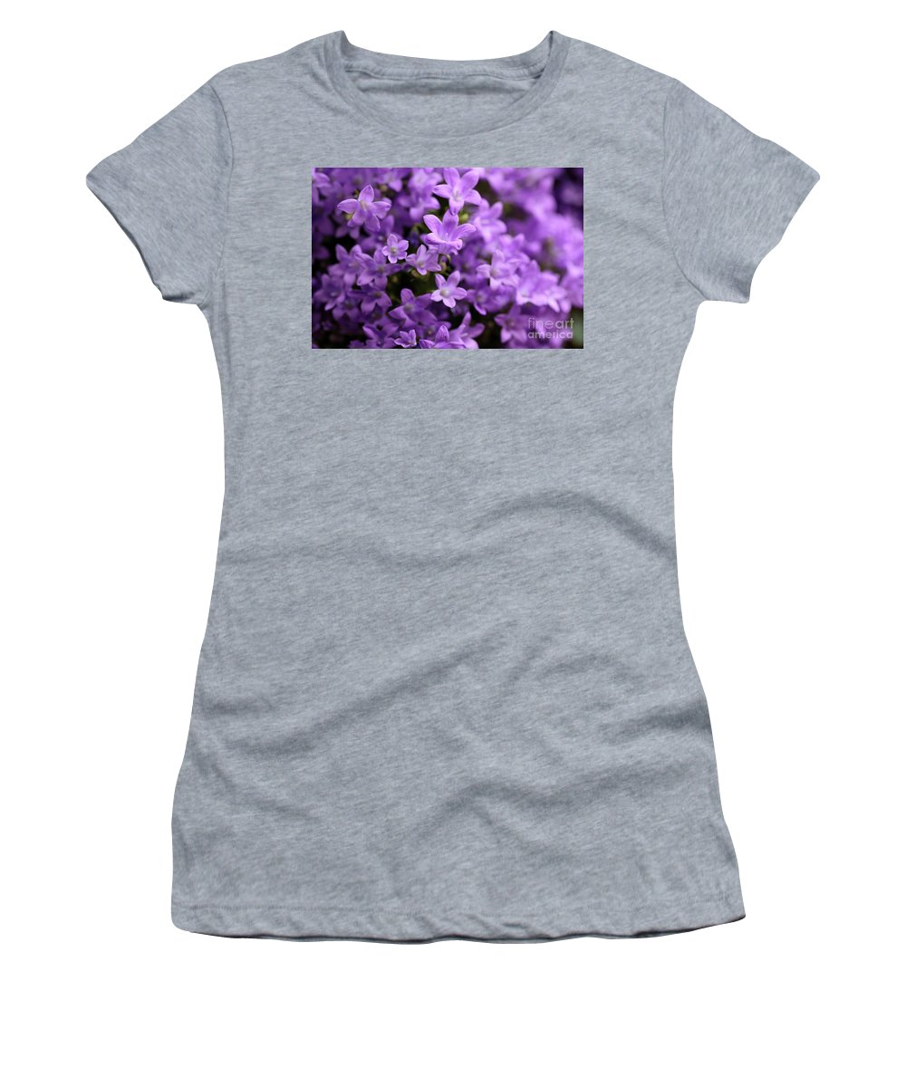 Horizontal Women's T-Shirt (Athletic Fit) featuring the photograph Violet Dream Vi by Stefania Levi