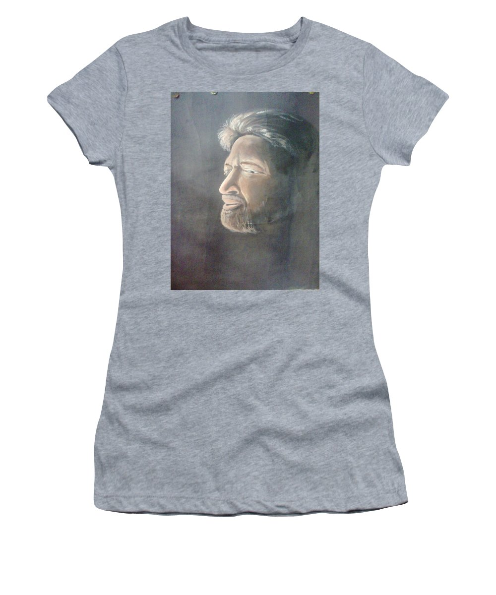 Women's T-Shirt (Athletic Fit) featuring the drawing Vishnuvardhan by Naresh Rao
